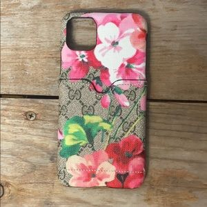 iPhone 11 Pro Max Floral GG Card Case